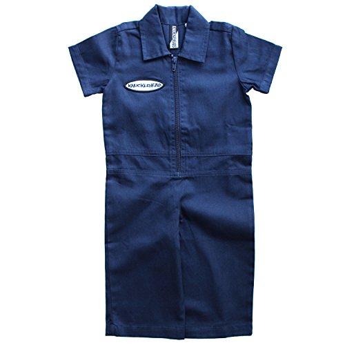 Born to Love Knuckleheads - Infant and Baby Boy Grease Monkey Coveralls (12-18 Months, Navy)