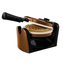 Oster CKSTWFBF10WO-ECO DuraCeramic Flip Waffle Maker, Copper