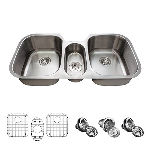 4521 16 Gauge Stainless Steel Kitchen Ensemble (Bundle - 7 Items: Sink, Basket Strainer, 2 Standard Strainers, and 3 Sink Grids) ()