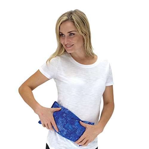 (Nature Creation- Basic Herb Pack Heating Pad- Aromatherapy - Hot and Cold Therapy (Blue)