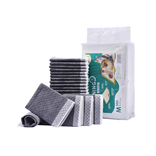 K&F-WC Pet Training Mat, Bamboo Charcoal Fiber Pet Toilet, Super Absorbent PE Cast Film 5 Layer Lock Water Leakproof Odorless Pet Pad (Size : 20pcs - XL = -