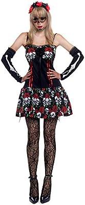 Partilandia Disfraz Esqueleto Mejicana Catrina Día de los Muertos ...