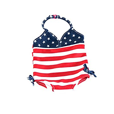 Red, White, and Cute Bathing Suit | Fits 18