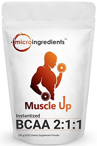 Micro Ingredients Pure BCAA 2:1:1 Powder (Instantized), 250 grams