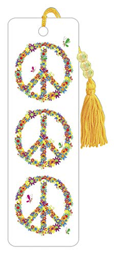 Trends International Floral Peace Sign Bookmark