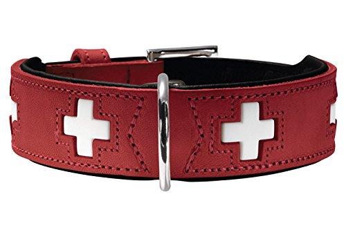 (Hunter GmbH Collar Swiss red Leather)