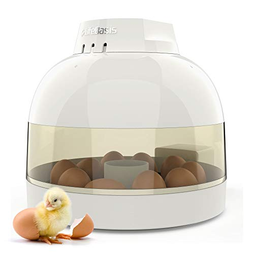 Life Basis Egg Incubator Fully Automatic Egg Turning Auto Temperature Keep Easy to Observe 10 Eggs Small Poultry Hatcher for Chickens Ducks Goose Birds (Portable Egg Incubator)