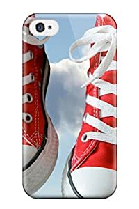 Hot Red Sneakers First Grade Tpu Phone Case for iphone 4/4s Case Cover