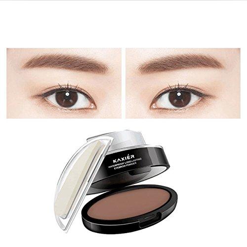 CCbeauty Eyebrow Powder Stamper Seal Kit Eyebrow Kit Powder Waterproof Makeup Eyebrow Tinting Coloring Kit,Light Brown by CCbeauty (Image #3)