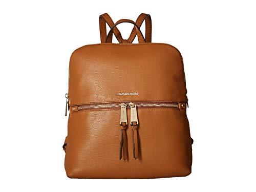 Michael Kors Rhea Medium Slim Leather Backpack- Acorn, Brown, ()