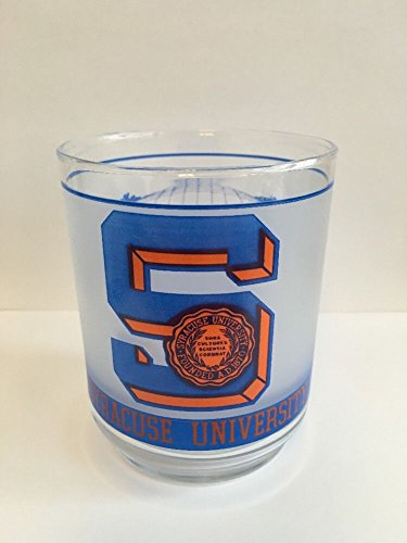 Syracuse University Orange Vintage NCAA Whiskey Drinking Glass Tumbler - Syracuse Glasses