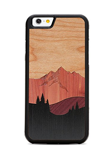 iPhone 6 / 6s Mount Bierstadt Inlay Wood Traveler Case by Carved, Unique Real Wooden Phone Cover (Rubber Bumper, Fits Apple iPhone 6 / 6s)