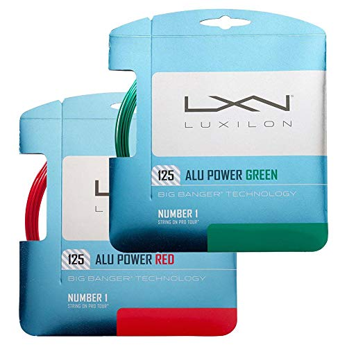 Luxilion ALU Power 125 Tennis Racquet String Set (16L Gauge, 1.25 mm) in Limited Edition Colors (Red)