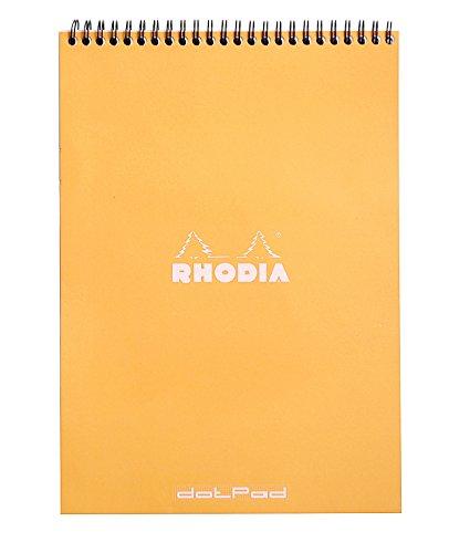 (Rhodia Wirebound Notepads - Dots 80 sheets - 8 1/4 x 11 3/4 in. - Orange)