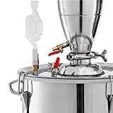 Water Alcohol Distiller Wine Making Boiler with Two Thermometers