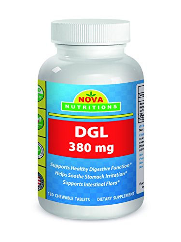 Nova Nutritions DGL Deglycyrrhizinated Licorice Root Extract 380 mg 180 Tablets - Root 100 Tablets