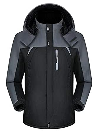 MOUTEN Mens Winter Outdoor Windproof Soft Shell Hooded