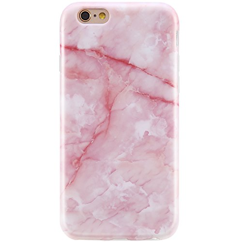 iPhone 6 Case for Girls, iPhone 6 Cases Pink,VIVIBIN Anti-Scratch &Fingerprint,Shock Proof Thin TPU Case , iPhone 6 Cases Pink, Marble Design