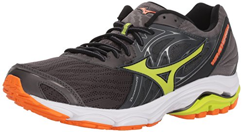 Mizuno Men's Wave Inspire 14 Running Shoe, Magnet/Lime Punch, 9.5