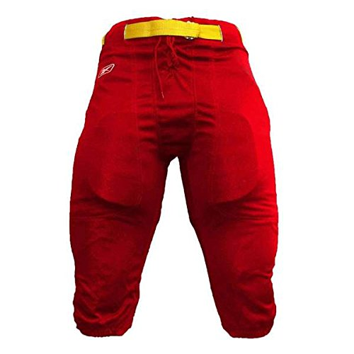 Reebok Polyester Pique Adult Slotted Football Pants (3XL, Scarlet)