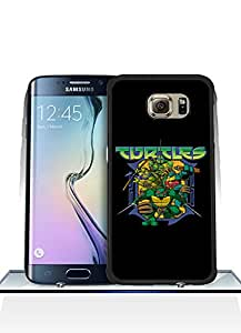 Galaxy S6 Edge Funda Case, Game - Teenage Mutant Ninja Turtles Logo Impact Resistant Durable Aesthetic Personalized Style Anti Dust Extra Slim Compatible with Samsung Galaxy S6 Edge [Just fit for S6 Edge]