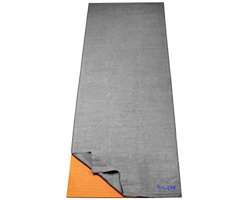 Yes4All Yoga Towel For Hot Yoga - Gray - ²KWHVZ