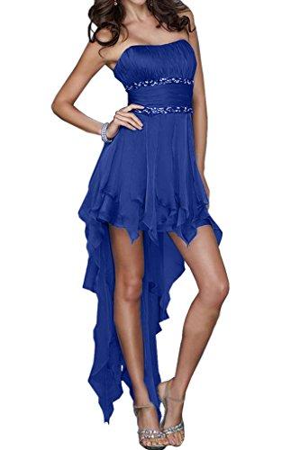 Blau Braut Summer Abendkleider Rueschen La Marie Beliebt Kurz Damen Mini Cocktailkleider Partykleider Royal qRw75U54
