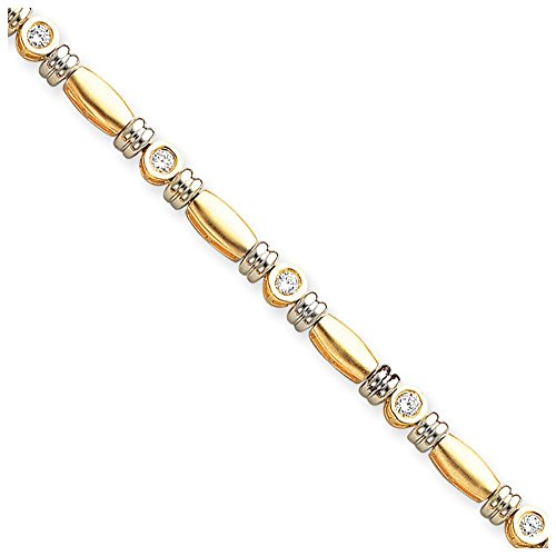 Jewelry Bracelet Mountings 14k Two-tone 3.5mm Diamond Tennis Bracelet - Gold Tone Two Mounting