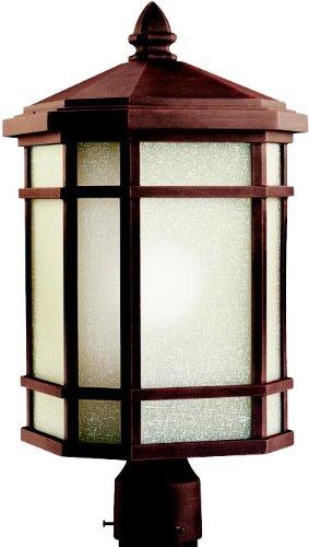 Kichler 11020PR Outdoor Post Mount 1-Light FL, Prairie (Prairie Style Outdoor Lighting)