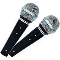Mr Entertainer MKM222 Dynamic Handheld Karaoke Microphones (Pair). Perfect for use with Karaoke Machines