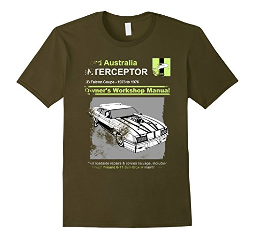 Owners Manual style vintage V8 Police Interceptor T-Shirt - Male Large -  Olive - Buy Online in Brunei. | amo designs Products in Brunei - See  Prices, Reviews and Free Delivery over BND100 | Desertcart