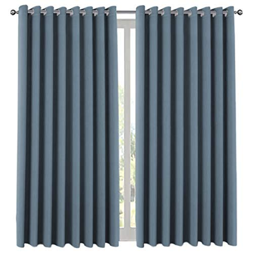 H.VERSAILTEX Premium Room Divider (Nobody Can See Through, 9' Tall x 8.5' Wide), Blackout Curtain Panels, Extra Long and Wide Thermal Insulated Patio Curtains -100