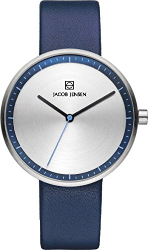 Jacob Jensen 282 Ladies Strata Silver Blue Watch