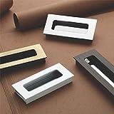 GS Gujarat™ Aluminum Sliding Door Handle/Bedroom Sliding Door Handle/Sliding Handle Hardware/Door Handles for Bed Room/Chrome Finish (11.5 cm) Pack of 2