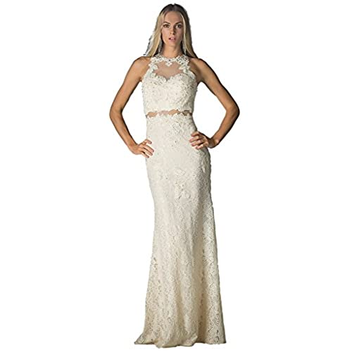 Long Cream Prom Dresses: Amazon.com