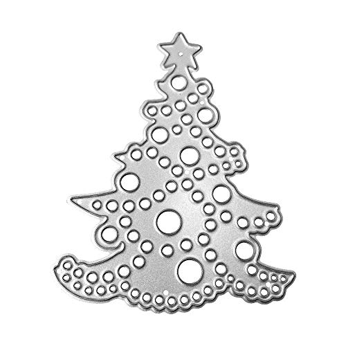 WOCACHI Christmas Tree Cutting Dies Card Making Stencils Scrapbooking Embossing Mould Handicrafts Xmas Decor Paper Cards Template B