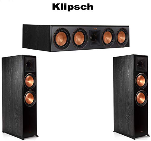 Klipsch (1 Pair) RP-8060FA Floorstanding Speaker with Dolby Atmos - Each (Ebony) RP-504C Center Channel Speaker (Ebony) Bundle