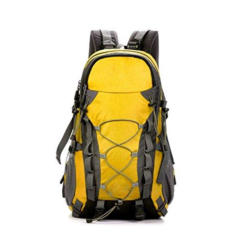 HAOYUXIANG Al Aire Libre Del Alpinismo De La Mochila De Grandes Hombres Y Mujeres 6 Colores 40L De Capacidad,Red Yellow