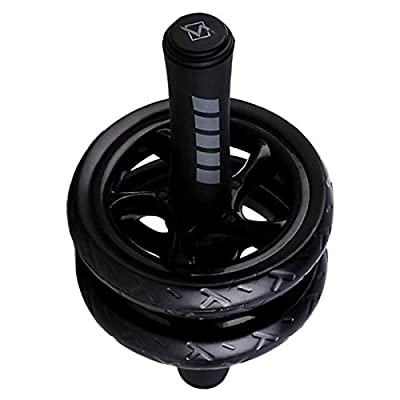 S.S.H.Z Abdominal Roller Fitness Equipment Domestic Muscle Wheel Two Wheeled Healthy Wheel Mute Abdominal Device A (Color : Black): Home & Kitchen