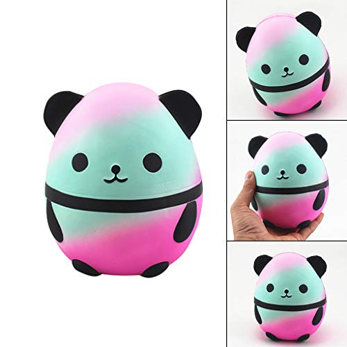 2019HoHo Squishy Toys Cute Rainbow Cartoon Panda Stress Anxiety Relief Toy Vent Decompression Toys for Adults Kids Adorable Squeeze Toy