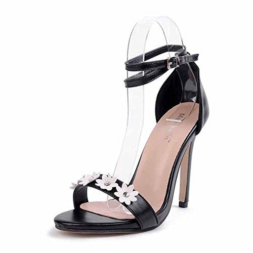 Strap GLTER Strap Flor T Decoración Women tacones última Pump altos hebilla Ankle Cool Europea Shoes TqWZx8RfT