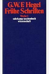 Werke Bd 1 Fruehe Schriften (German Edition) Paperback