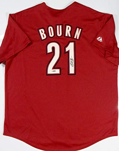Michael Bourn Signed Houston Astros Brick Red Authentic Majestic Jersey- TriStar Auth -