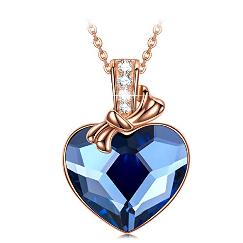 PAULINE&MORGEN for Her Women Heart Pendant Heart of The Ocean Gold Sterling Silver Broken Necklaces Simple Jewelry Birthday for Women Girls Couples Girlfriend