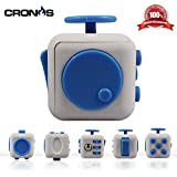 Premium Fidget Cube - Anxiety Fidgeting Stress Relief - Ultimate Sensory Desk Toy for Kids and Adults - 6 Various...