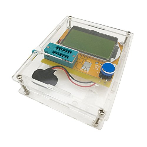 Yoochin LCR-T4 Mega328 M328 Multimetr Transistor Tester ESR Meter Diode Triode Capacitance ESR Meter MOS PNP NPN LCR+CASE(No Battery)