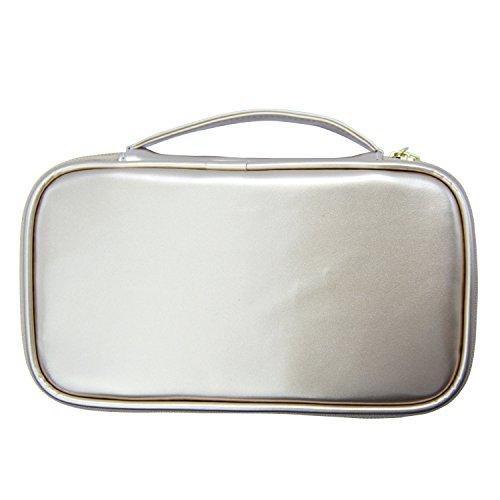 MONSTINA Cosmetics Bag,Double Layer Makeup Bag,Beauty Makeup Brush Bags Travel Multi-functional Kit Organizer For Women(Champagne Gold) by MONSTINA (Image #1)