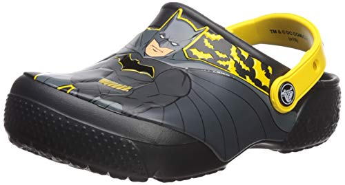 Crocs Kids' Fun Lab Iconic Batman Clog, Black, 2 M US Little Kid