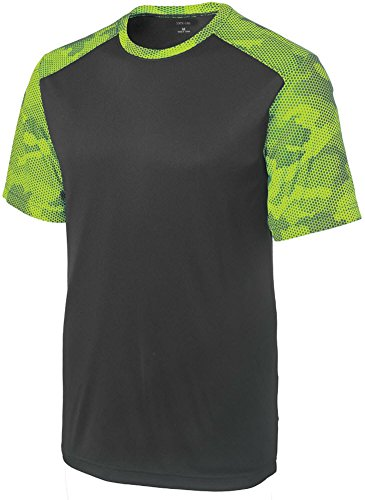 Joe's USA(tm) Mens CamoHex Athletic Shirt-Iron Grey/ - 51 Usa