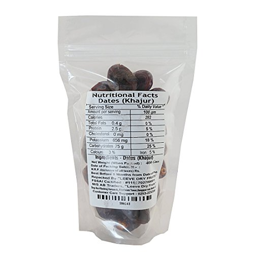 Leeve Dry Fruits Wet Dates Qatar Dates, 400 Gms by Leeve Dry Fruits (Image #1)'